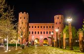 image of turin  - The Palatine Towers in Turin  - JPG