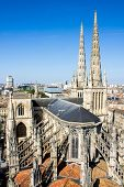 stock photo of bordeaux  - Aerial view of the St - JPG