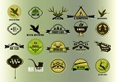 foto of duck-hunting  - Hunting club label collecton - JPG