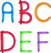 pic of kiddie  - Illustration of alphabet colourful of ballon with backround white - JPG