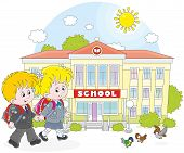 picture of schoolboys  - Little schoolgirl - JPG