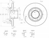 stock photo of degree  - Expanded wheel sketch with blades - JPG