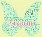 pic of fibromyalgia  - Thyroid butterfly shaped word cloud on a yellow background - JPG