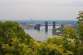 image of kiev  - Bridge on Dnieper River in Kiev Ukraine - JPG