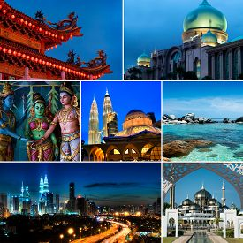 picture of klcc  - Collage of Malaysia images - JPG