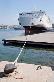 image of passenger ship  - The image of a passenger ship - JPG