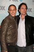 PASADENA, CA - JAN. 11: Theo Rossi and Kim Coates arrive at the FOX TCA Winter 2011 Party at Villa S