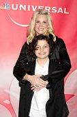 PASADENA, CA - JAN 13:  Monica Potter, Max Burkholder arrives at the NBC TCA Winter 2011 Party at La