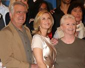LOS ANGELES - FEB 7:  John McCook, Katherine Kelly Lang, Susan Flannery at the 6000th Show Celebrati