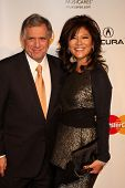 LOS ANGELES - FEB 11:  Les Moonves, Julie Chen arrives at the Muiscares Gala Honoring Barbra Streisa