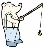 picture of polar bears  - polar bear fishing cartoon  - JPG