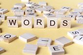 Words Word Made With Block Wooden Letters. Wood Abc poster