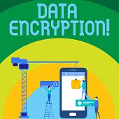 Conceptual Hand Writing Showing Data Encryption. Business Photo Text Another Form Code That Only Sho poster