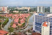 foto of malacca  - Malacca Malaysia Cityscape and Residential with Melaka River - JPG