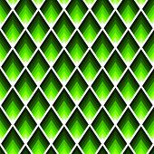 Rectangles Or Lozenges Seamless Pattern In Trendy Neon Lime Color. poster