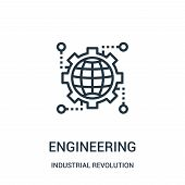 Engineering Icon Isolated On White Background From Industrial Revolution Collection. Engineering Ico poster