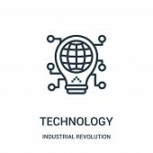 Technology Icon Isolated On White Background From Industrial Revolution Collection. Technology Icon  poster