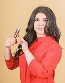 Classic Technique Applying Single Lash Extension Over Your Natural Lash. Beauty Shop Concept. Profes poster