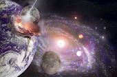 stock photo of babylon  - An artistic illustration of Planet X heading toward earth on December 21 2012 - JPG