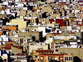 picture of overpopulation  - overcrowding of cities overpopulation and agolmeracion of society - JPG