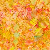Seamless Abstract Textured Oil Pattern Autumn Color Leaves Concept, Painting On Canvas. Impasto Artw poster