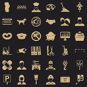 Favorite Profession Icons Set. Simple Style Of 36 Favorite Profession Vector Icons For Web For Any D poster