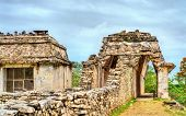 The Palace At The Palenque Maya Archeological Site. Unesco World Heritage In Mexico poster