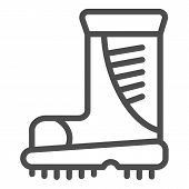 Boots Line Icon. Working Boots Vector Illustration Isolated On White. Protective Footwear Outline St poster