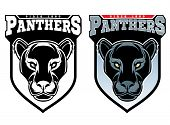 Mascot Panthers. Vector Illustration For Use As Print, Poster, Sticker, Logo, Tattoo, Emblem And Oth poster