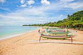 pic of dua  - Beautiful tropical beach with fisherman - JPG