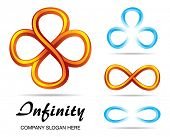 pic of mobius  - Set of design symbols of infinity - JPG