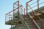 foto of bannister  - Iron Industry staircase leading up to the tank - JPG
