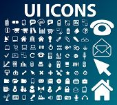 ui, interface, web design icons set, vector