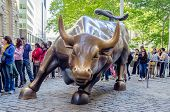 Charging Bull In Downtown Manhattan