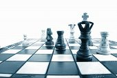 picture of marketing strategy  - chess pieces showing concept of power strategy and success in business - JPG
