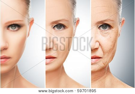 Concept Of Aging And Skin Care poster