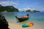 Longtail Boat At Mae Koh Island, Ang Thong National Marine Park, Thailand