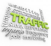 stock photo of maxim  - Web Traffic Word Background Content Marketing SEO Reputation - JPG