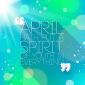 Quotes about spring - Typographical vector design