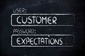 pic of expectations  - user and password - JPG