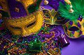 foto of carnivale  - Festive Grouping of mardi gras - JPG