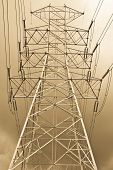 stock photo of structure  - The high voltage electricity post in thailand - JPG
