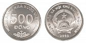 stock photo of dong  - 500 vietnamese dong coin isolated on white background  - JPG