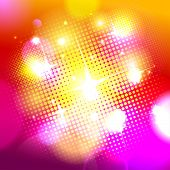 Bokeh background with pop-art dots, vector Eps10.
