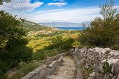 Bay in Krk Island with view to Baska, Croatia