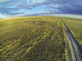 stock photo of grassland  - Colorado prairie in sunset light  - JPG