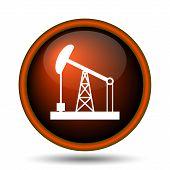 pic of oil derrick  - Oil pump icon - JPG