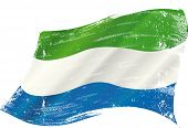 pic of freetown  - waving Sierra Leone grunge flag - JPG