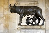 Sculpture Of Capitoline Wolf, Romulus, And Remus