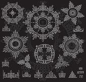 foto of rangoli  - Round Ornament Pattern with pattern brash - JPG